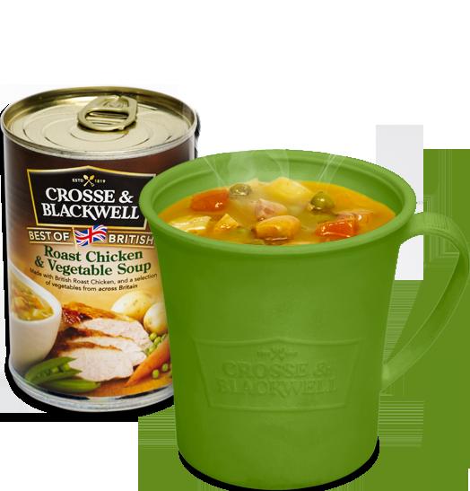 Бесплатная кружка для микроволновой печи и банка супа