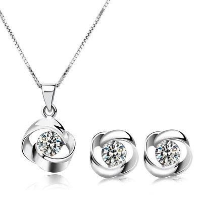 ожерелье и серьги с кристаллами сваровски
