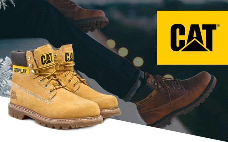 Caterpillar - ботинки кожаные мужские со скидкой 75%