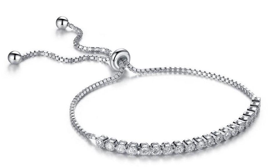 классический браслет с кристаллами Swarovski