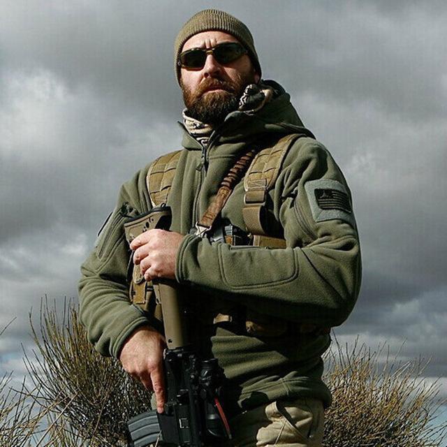 Американская военная флисовая куртка