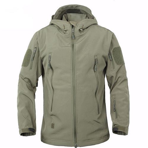 Мужская армейская куртка из мягкой кожи