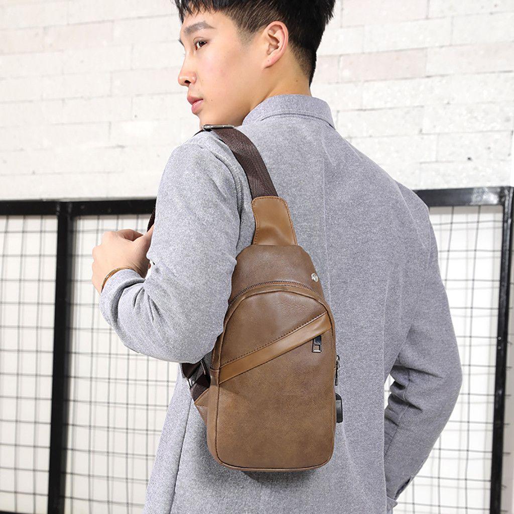 Мужская нагрудная сумка